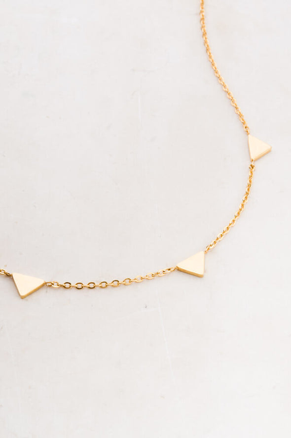 Starfish Project - Georgia; Gold Triangle Pendant Necklace-Necklace-Aware... the social design project