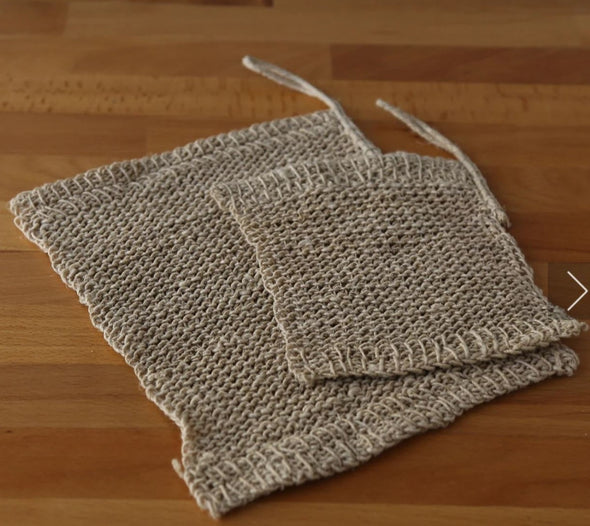 Hemp Knitted Wash Cloth