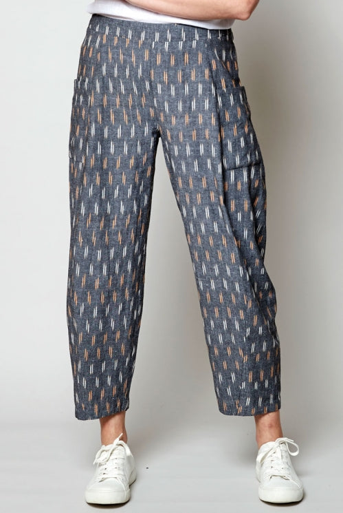 Ikat Relaxed Crop Trouser