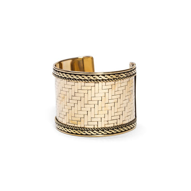 Gold Woven Cuff-Bracelet-Aware... the social design project