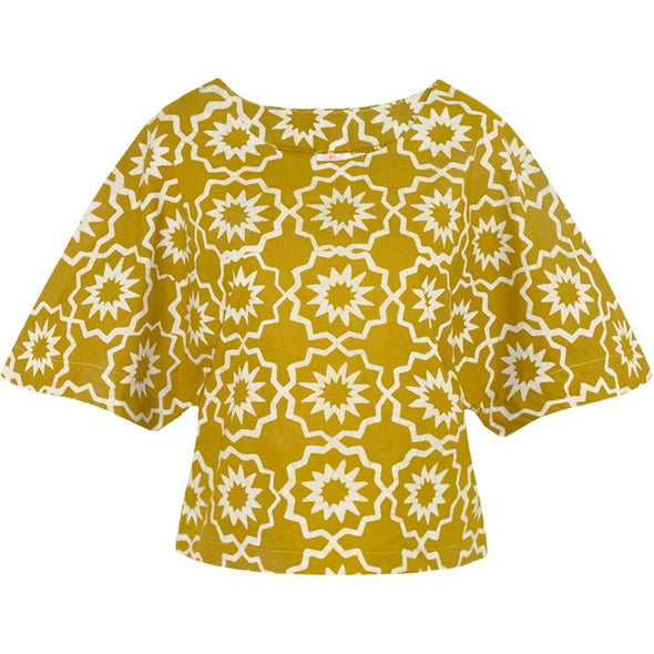 Kama Blouse Mustard-Blouse-Aware... the social design project