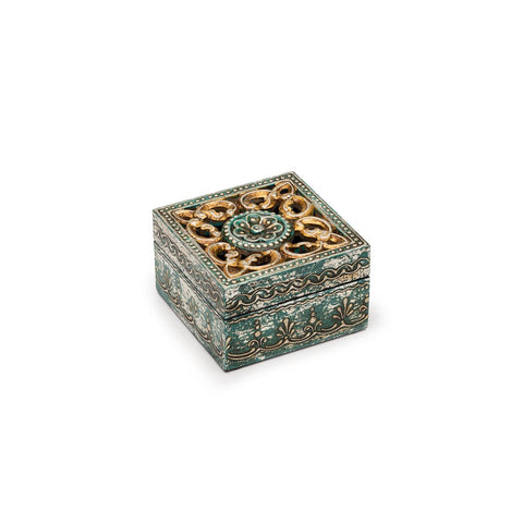 Antiqued Metal Cut Out Box