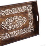 Timber Tray - Carved Floral