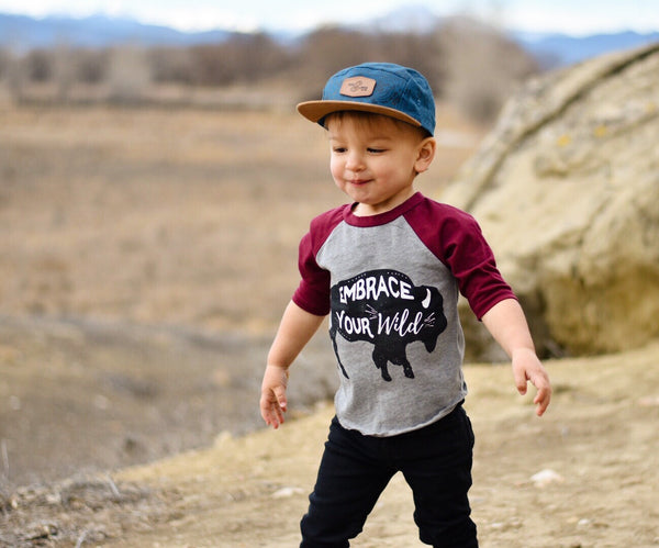 Embrace Your Wild • Kids Raglan, Tees - Wicked Good Vibes