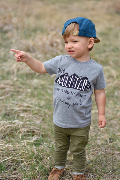 Into The Mountains • Kids Tee, Tees - Wicked Good Vibes