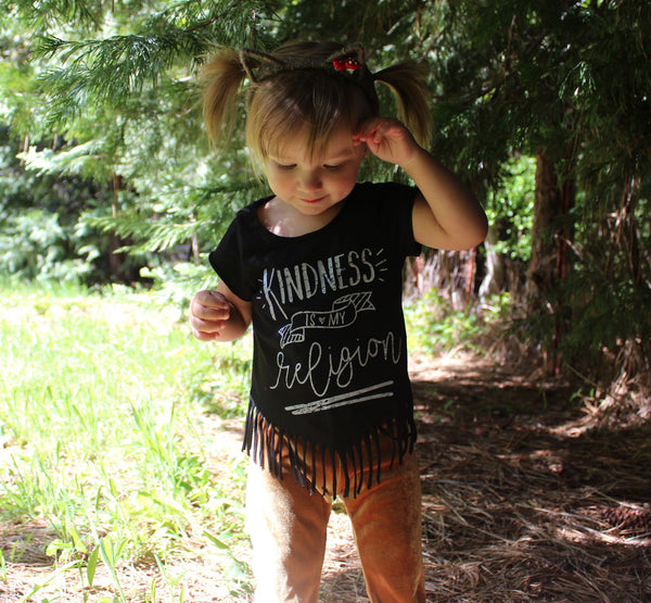 Girls Fringe Bottom Tee • Choose a Design, Tees - Wicked Good Vibes