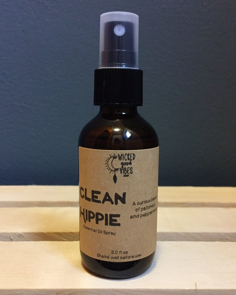 Clean Hippie, Essential Oil Spray - Wicked Good Vibes