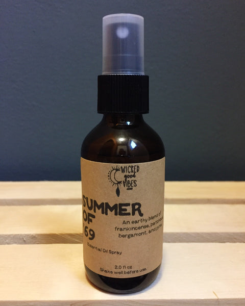 Summer of '69, Essential Oil Spray - Wicked Good Vibes