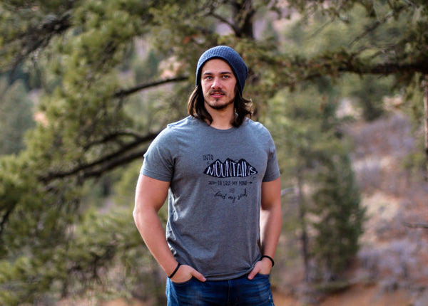 Into The Mountains • Adult Tee, Tees - Wicked Good Vibes
