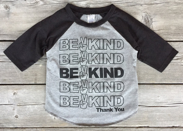 Be Kind • Kids Raglan, Tees - Wicked Good Vibes