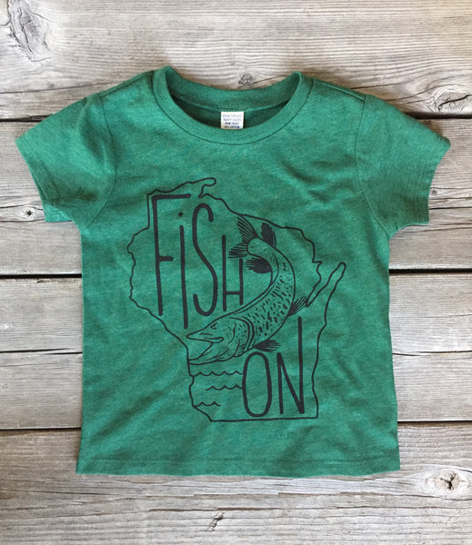 Fish On • Kids Tee, Tees - Wicked Good Vibes