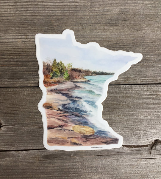 Large Minnesota Decal, Sticker - Wicked Good Vibes
