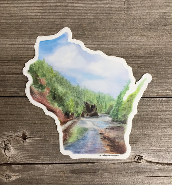 Large Wisconsin Decal, Sticker - Wicked Good Vibes
