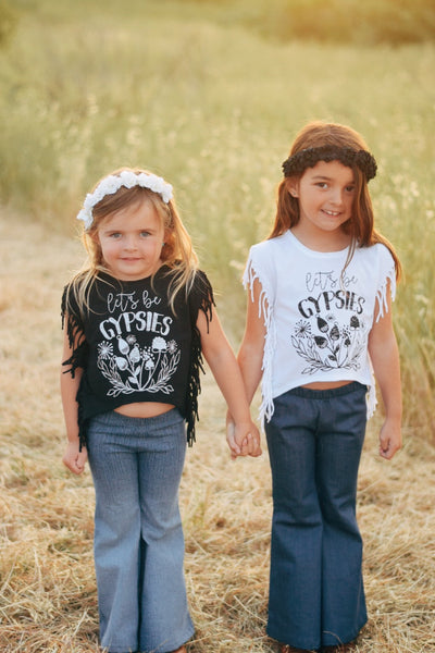 Girls Fringe Side Tee • Choose a Design, Tees - Wicked Good Vibes