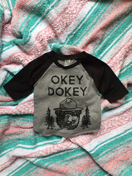 Okey Dokey • Kids Raglan, Tees - Wicked Good Vibes