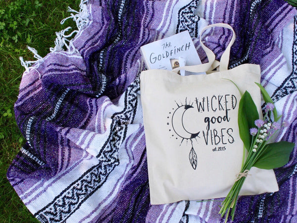 Logo Tote, Tote Bag - Wicked Good Vibes