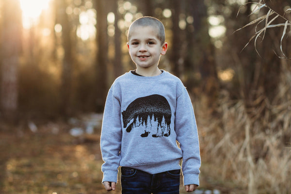 North Woods Night • Kids Sweatshirt, Sweatshirt - Wicked Good Vibes