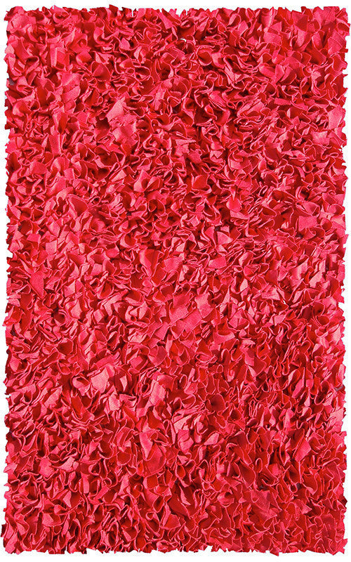 The Rug Market Shaggy Raggy Red 2215 Area Rug