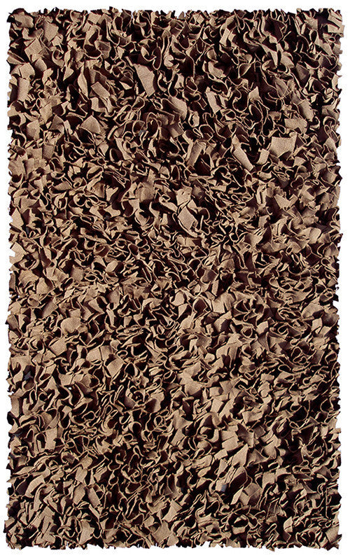 The Rug Market Shaggy Raggy Brown 2235 Area Rug
