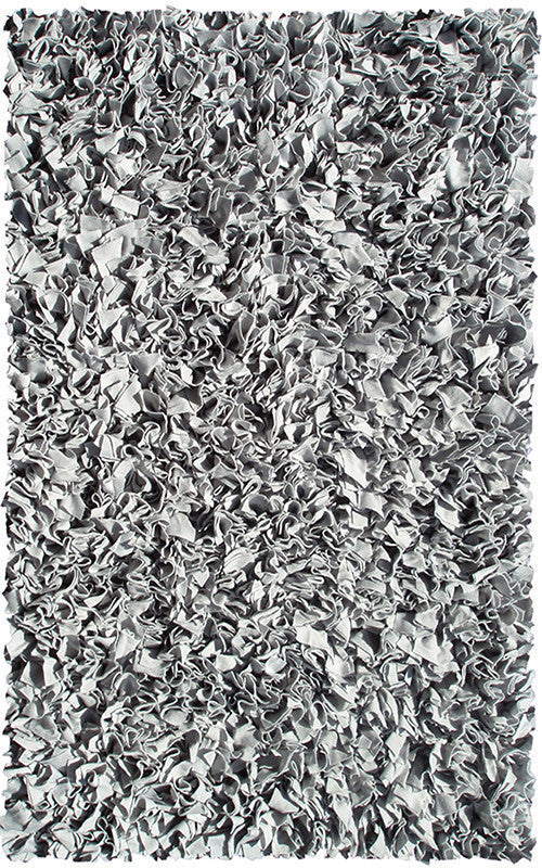 The Rug Market Shaggy Raggy Silver 2255 Area Rug