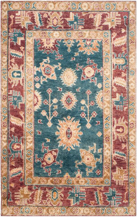 Safavieh Maharaja MHJ254B Blue / Red Rug