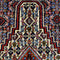Vintagel Senneh Persian Tribal Rug, Brown and Orange, 4' x 5' Rug