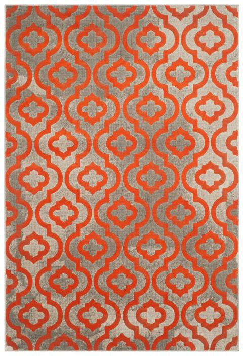 Safavieh Porcello PRL7734F Light Grey / Orange Rug