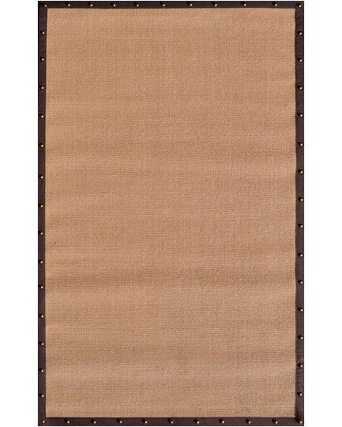 The Rug Market Brown Border W Nail Head 23319 Area Rug