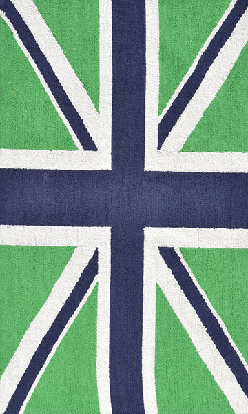The Rug Market Union Jack Green 25613 Area Rug
