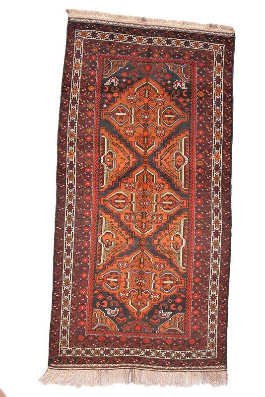 "Vintage Afghan Colorful Area Hand Woven Wool Rug 3' 10"" X 6' 10"""