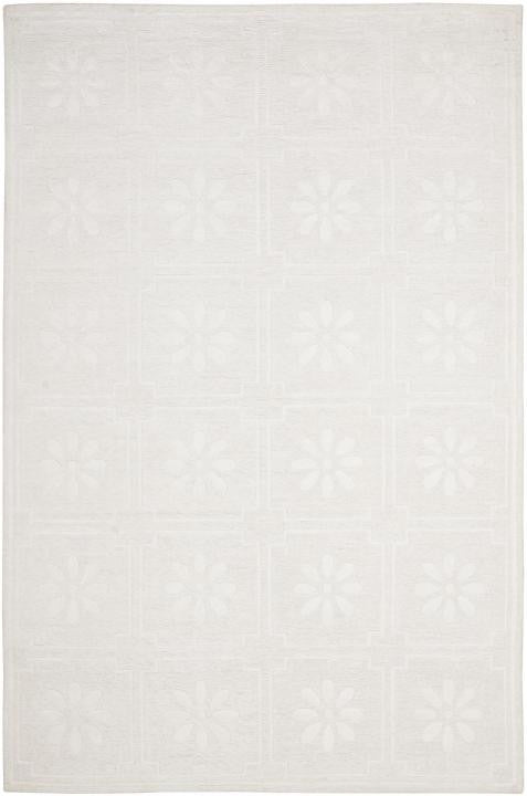 Safavieh Martha Stewart MSR5751A Daisy Square Glass Of Milk White Rug