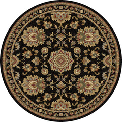 Tayse Rug Sensation 4853 Black Area Rug