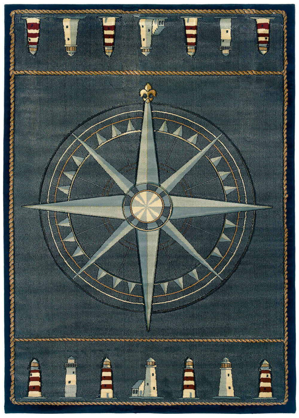United Weaver Contours Compass Rose Area Rug