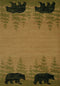 United Weaver Contours Cem Wooded Bear Area Rug