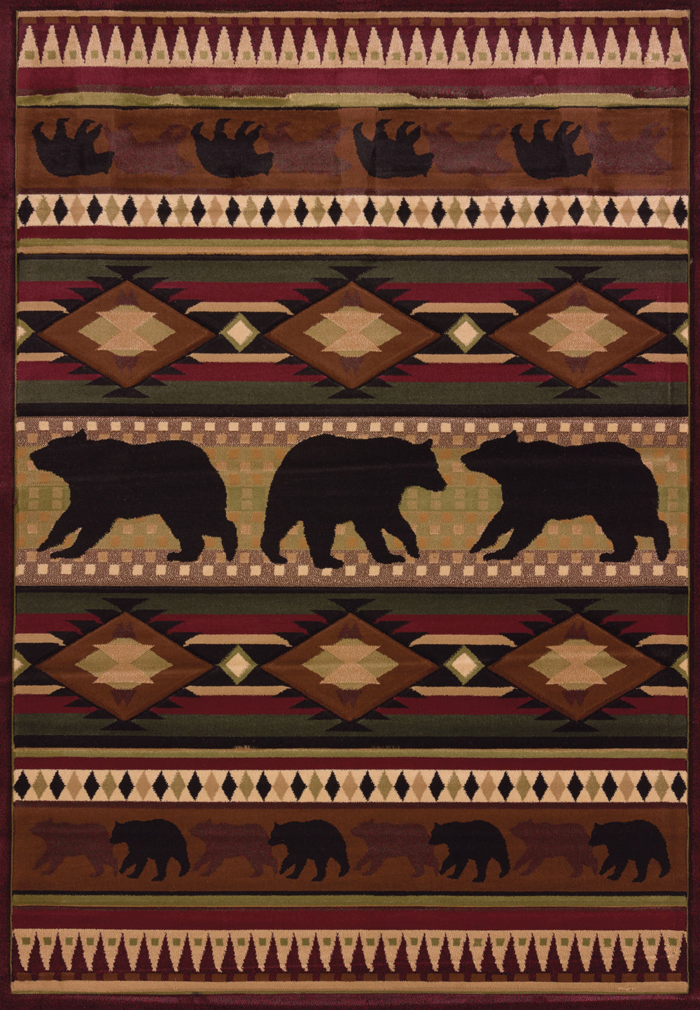 United Weaver Contours John Q Native Bear Area Rug