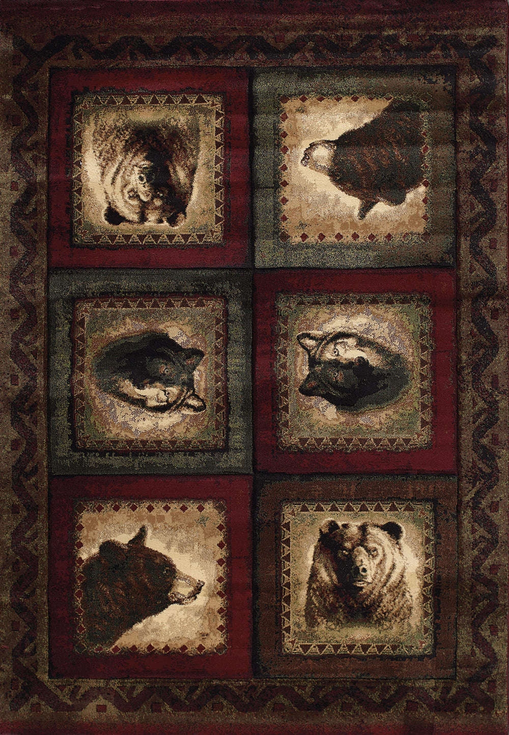 United Weaver Contours John Q Bears &Wolf Area Rug