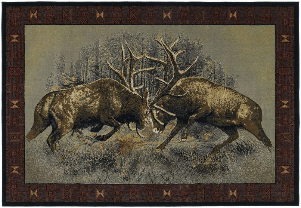 United Weaver Buckwear Fight For Dominance Area Rug