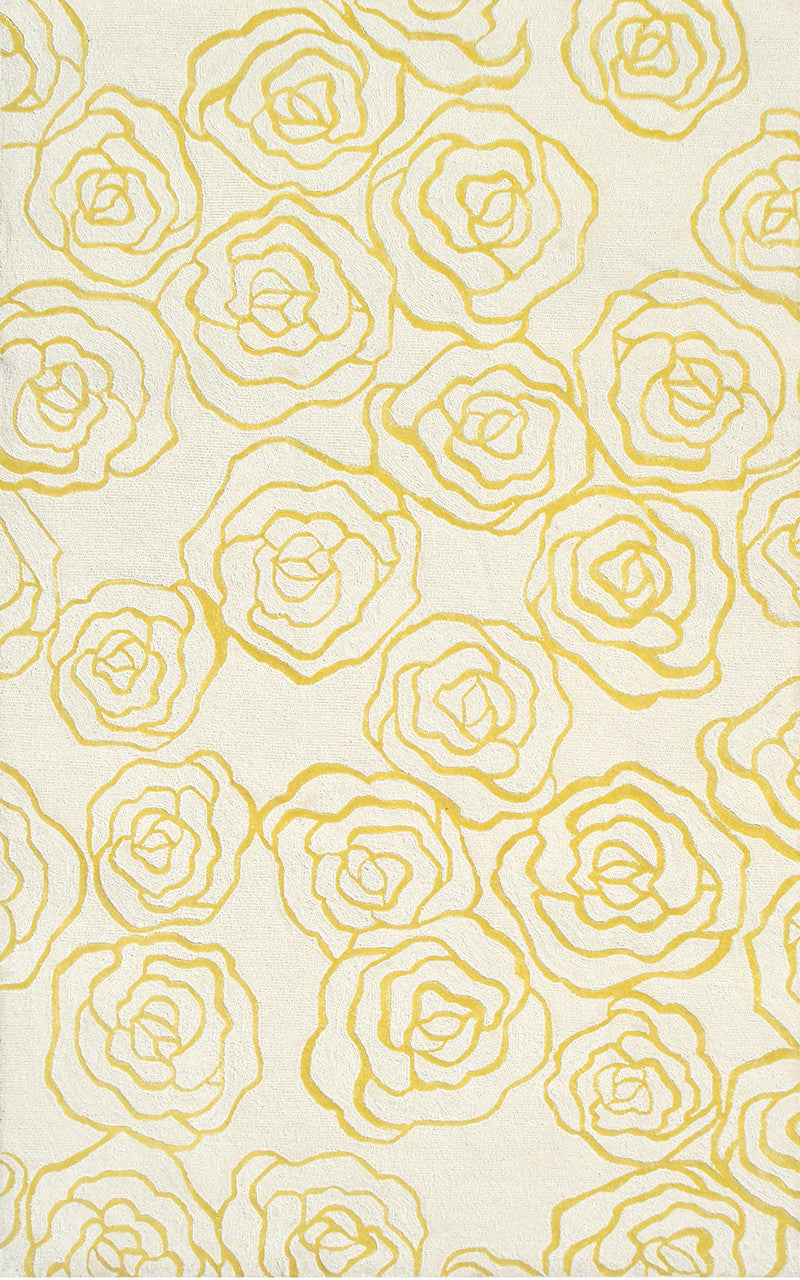 The Rug Market Deco Rose Yellow 60016 Area Rug