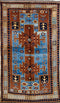 Oriental Turkish Kazak Wool Tribal Rug, Brown/Beige