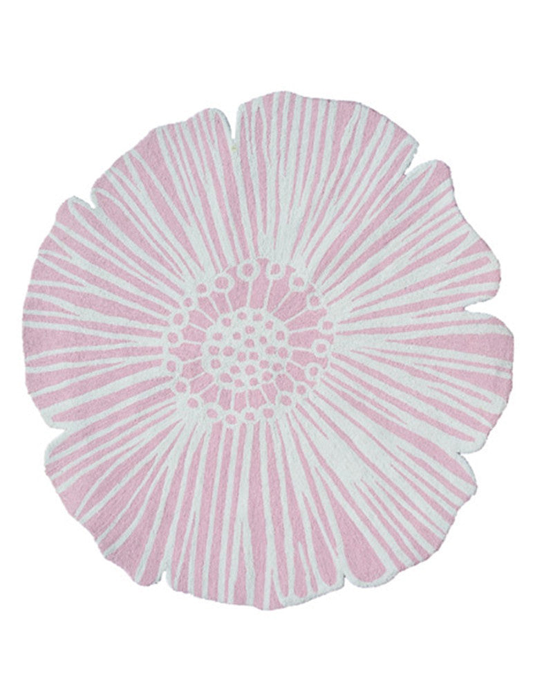 The Rug Market Round Flower Pink 71128 Area Rug
