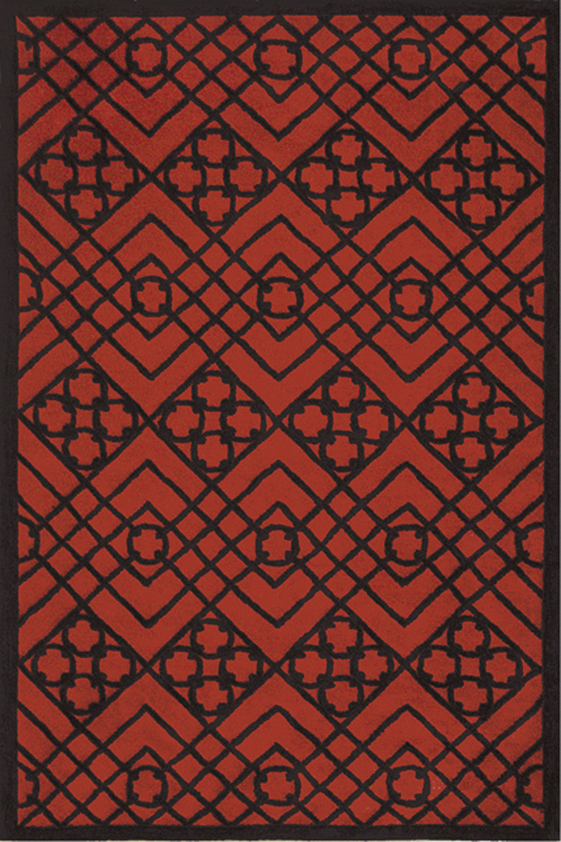 The Rug Market Locking Rings Red 72233 Area Rug