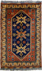 Vintage Persian Rug Tribal Rug, Blue Red Rug, 3' x 5'
