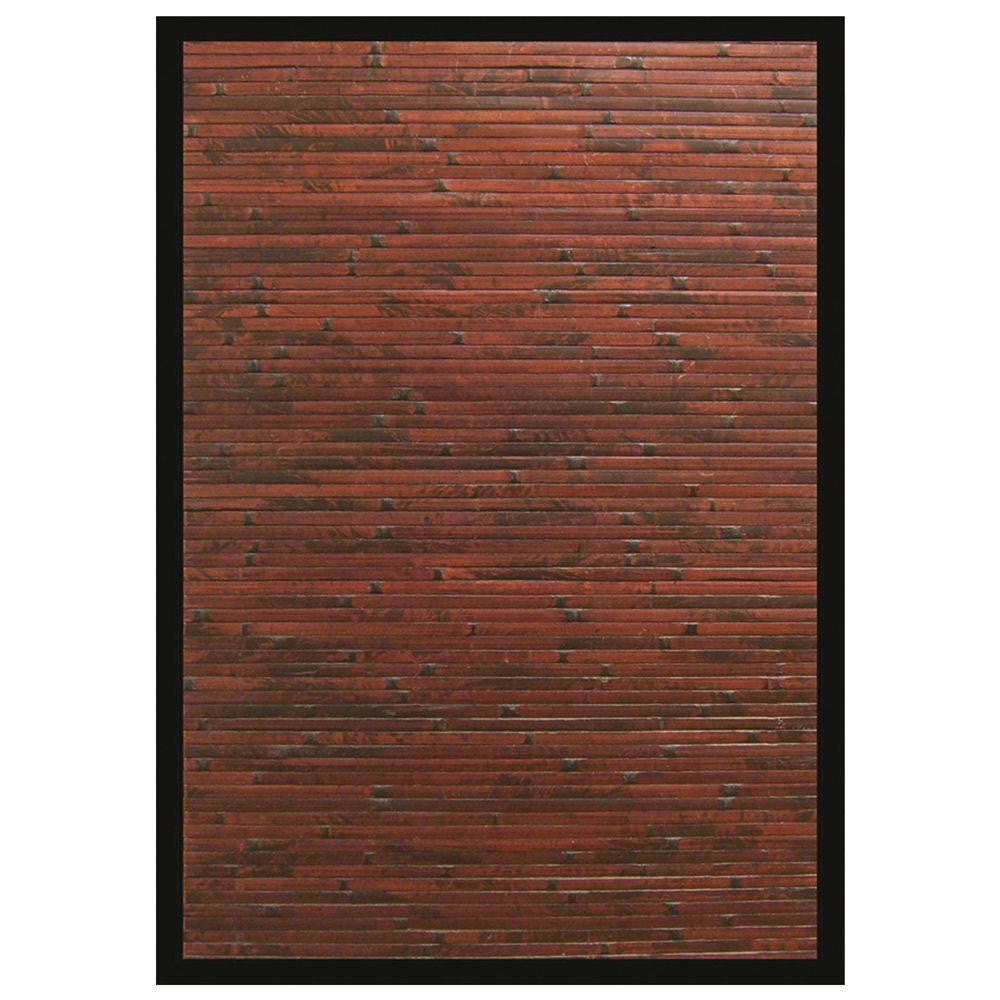 Anji Mountain Cobblestone Mahogany Bamboo Rug - Sky Home Decor