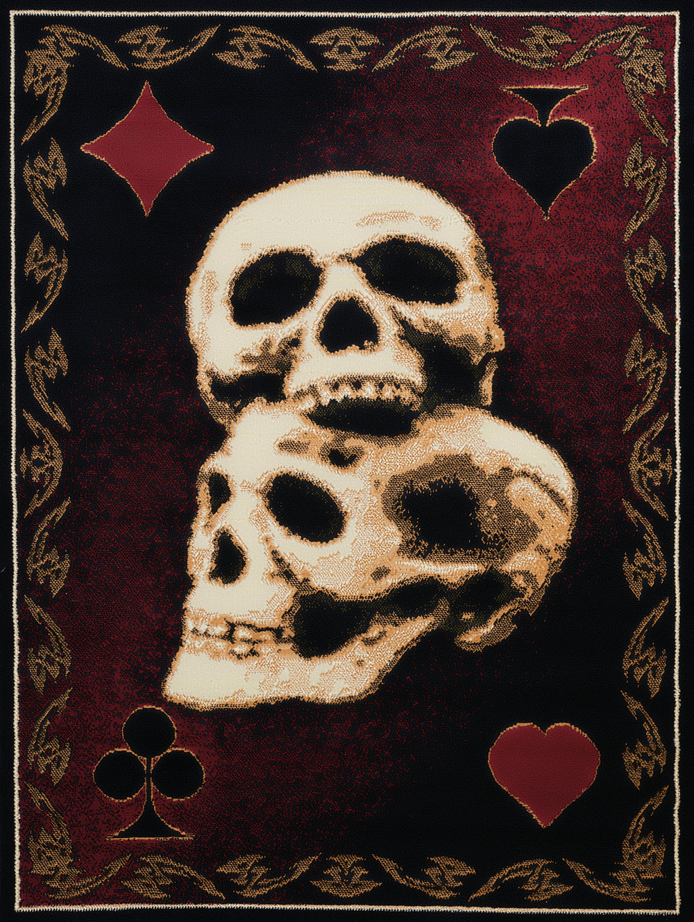United Weaver Legends Skulls Area Rug