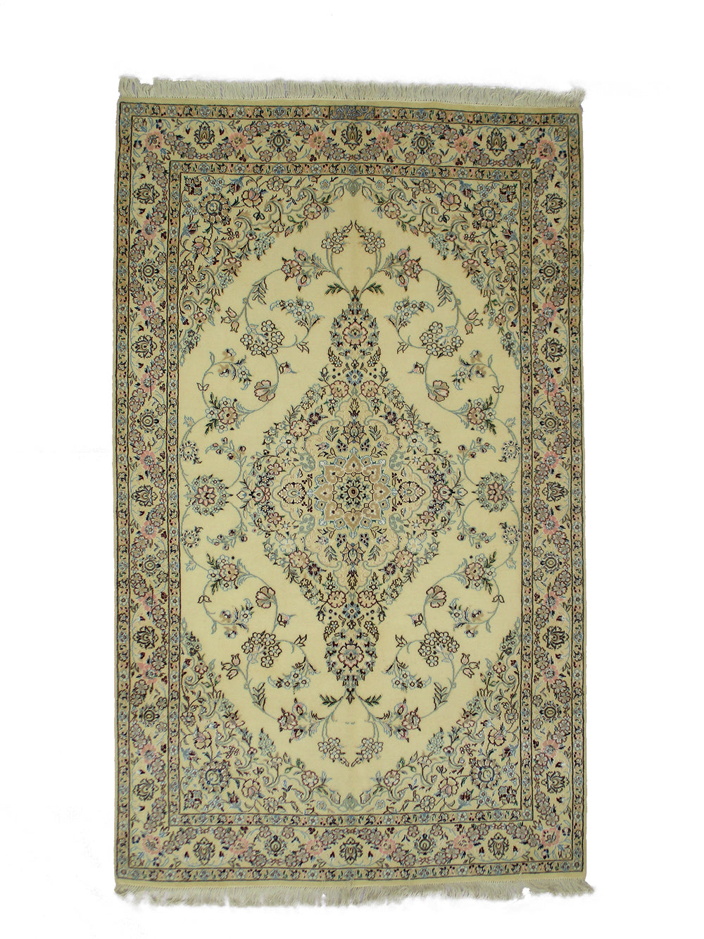 "Antique Oriental Nain Persian Area Rug 4' 3"" X 7' 0"" Handmade Rug"