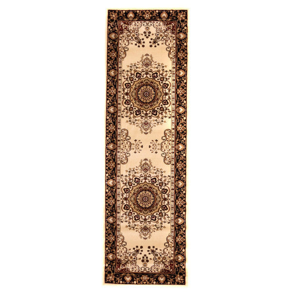"Liberty Oriental Rugs Brillante Machine Made Cream Runner Rug (2'3"" x 7'6"")"