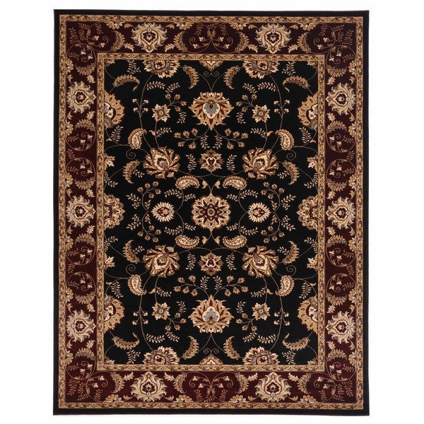 "Liberty Oriental Rugs Brillante Machine Made Ebony Area Rug (4'11"" x 7'8"" Rectangle)"