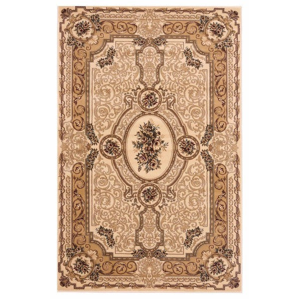 "Liberty Oriental Rugs Brillante Machine Made Cream Area Rug (4'11"" x 7'8"" Rectangle)"