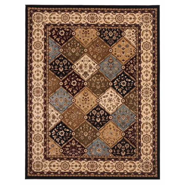 "Liberty Oriental Rugs Brillante Machine Made Ebony Area Rug (3'3"" x 4'11"" Rectangle)"