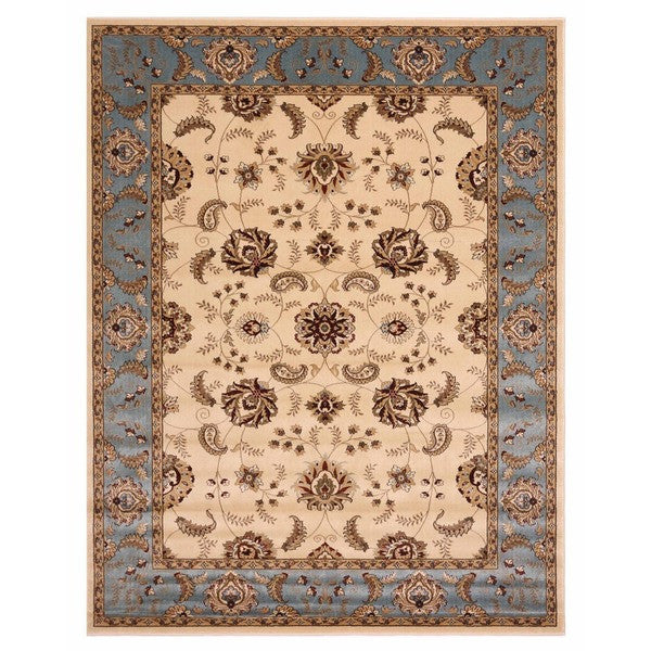 "Liberty Oriental Rugs Brillante Machine Made Cream Area Rug (7'6"" x 9'10 Rectangle)"